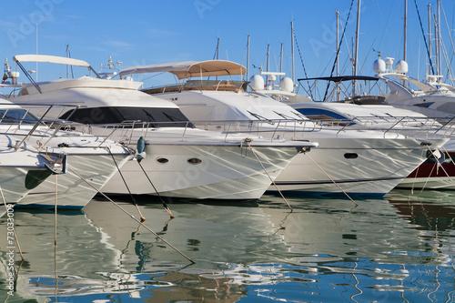 Fotografia  Yachts at Cambrils marina