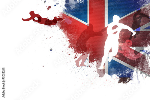 Fotografie, Obraz  Rugby Angleterre 2105