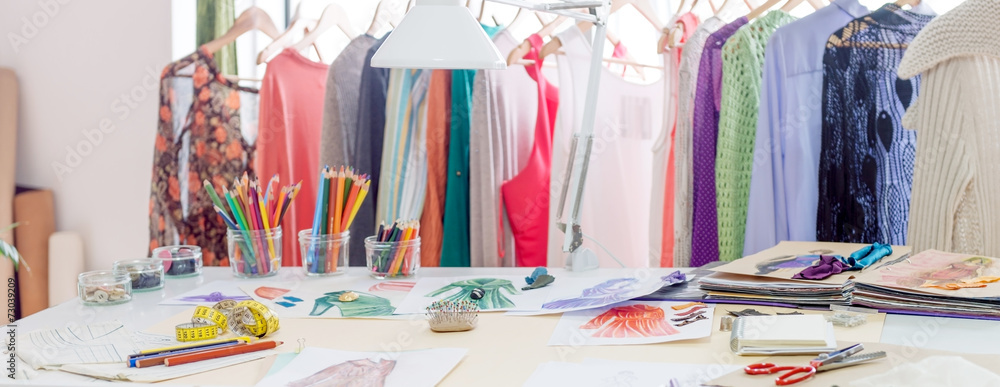 Fototapeta Fashion designer studio