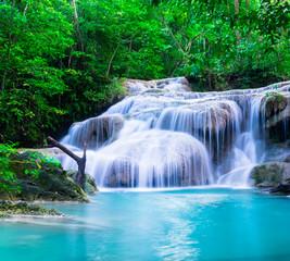 FototapetaWaterfall at Erawan National Park, Kanchana buri, Thailand