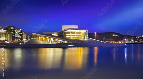 Photo  Oslo Opera House or Norwegian National Opera and Ballet, Norway.