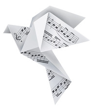 Origami Pigeon With Musical No...