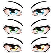 Anime Style Eyes