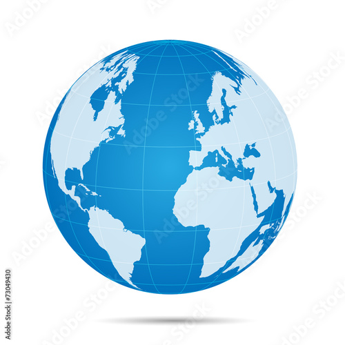 Fotografie, Obraz  World Map Illustration