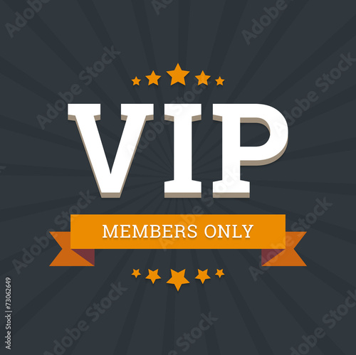 Photographie  VIP - members only vector background card template with stars an