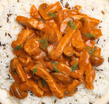 Pork Stroganoff With Rice