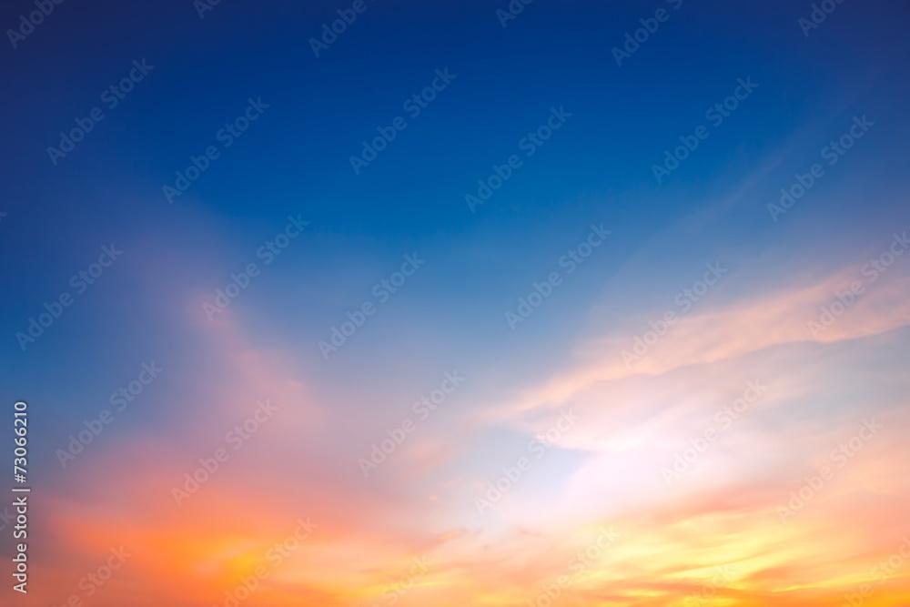 Fototapeta Sky background on sunset