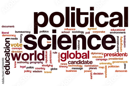 Political Science Word Cloud Buy This Stock Illustration And