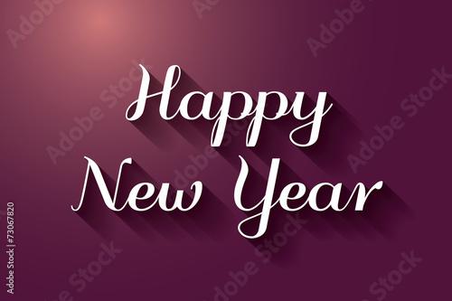happy new year card in dark purple color
