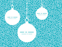 Vector Abstract Underwater Plants Christmas Ornaments