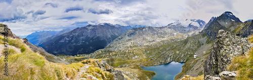 Foto auf Gartenposter Reflexion Panorama Alta via Valle d'Aosta