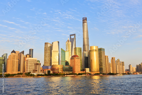Foto op Canvas Rotterdam Beautiful Shanghai cityscape at dusk