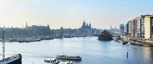 Amsterdam panoramic Canvas Print