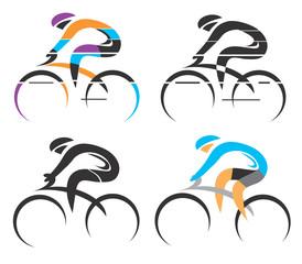 Fototapeta Do pokoju chłopca Cycling symbols