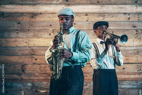 Fototapeta muzycy jazzowi