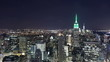 night manhattan empire view 4k time lapse from new york