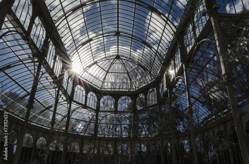 Aluminium Prints Train Station Glass structure