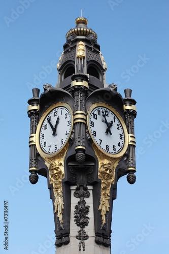 Fotografie, Obraz  Monumental clock of Tassin la Demi Lune
