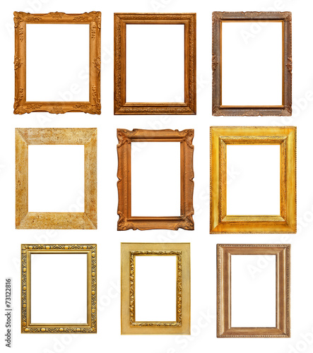 Vintage rectangular frames on white background - Buy this stock ...