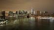 night light brooklyn bridge panoramic 4k tima lapse