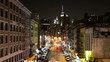 downtown night light street 4k time lapse from new york
