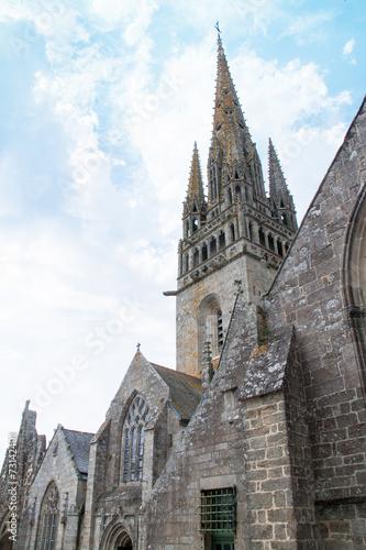 Fotografie, Obraz  Eglise Notre Dame de Rescudon de Pont Croix, Finistère, Bretagn