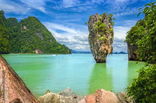 Aluminium Prints Blue James Bond Island (Ko Tapu), Phang Nga, Thailand