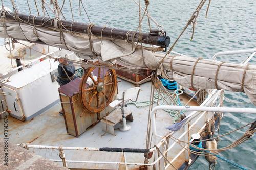 Fotografie, Obraz  Vieux gréement dans le port de Granville, Cotentin, Manche