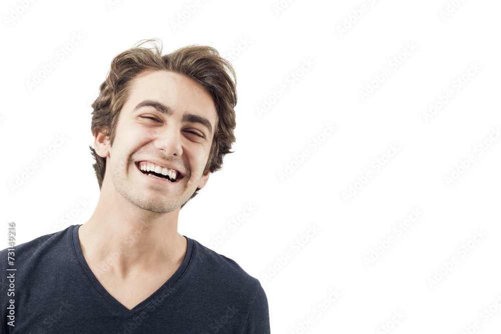 Fototapety, obrazy: Portrait of smiling young man