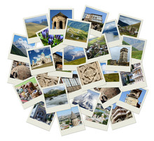Go Georgia - Central Asia Collage With Photos Of Landmarks