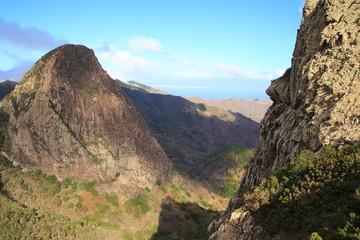 landscape of the island of La Gomera