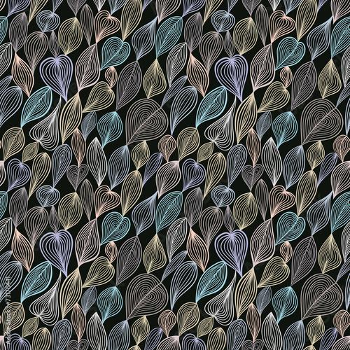 Dark floral seamless pattern. - 73170441