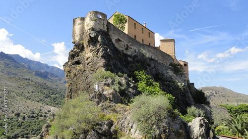 Fotografie, Obraz  Le château de la citadelle de Corte (Haute-Corse)