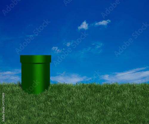 Fototapety, obrazy: Green Tube