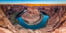 Panorama Of Horseshoe Bend Canyon, Page, Arizona, USA
