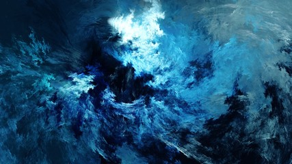Abstract painting of a storm