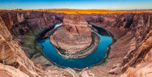 Panorama of Horseshoe Bend Canyon, Page, Arizona, USA