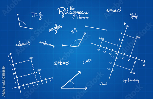 Mathematical geometry signs on blueprint background buy this stock mathematical geometry signs on blueprint background malvernweather Choice Image