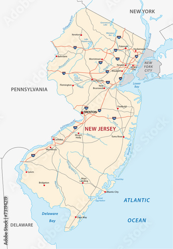 new jersey road map - Buy this stock vector and explore ...