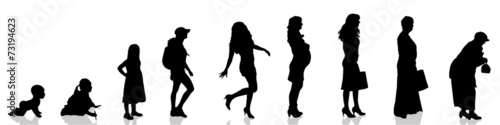 Photo Vector silhouette of woman.