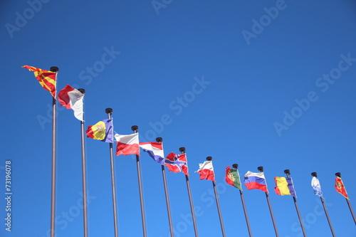 Cuadros en Lienzo International flags