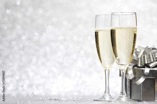 Fotografie, Obraz  Champagne and present