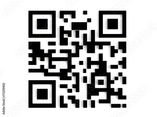 Fotografie, Obraz  3d qr code abstract image