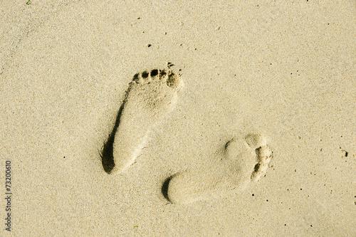 Fotografija  Empreinte de pied sur la plage
