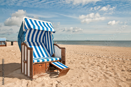 Foto op Plexiglas Noordzee Strandkorb 7