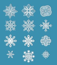 Collection Of Handmade Paper Snowflakes