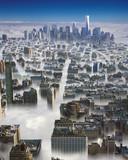 Manhattan w chmurach