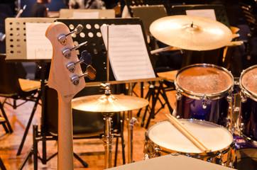 Fototapeta na wymiar Musical instruments