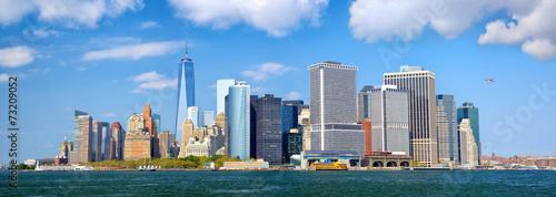 Photo  Lower Manhattan urban skyscrapers panorama, New York City