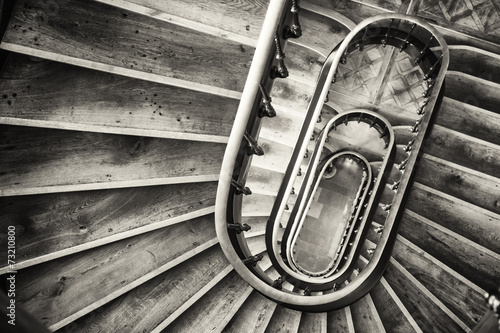 old spiral staircase